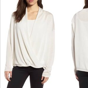 Eileen Fisher Wrap Blouse NWT Petite